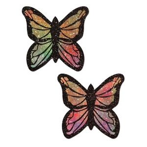 Pastease Rainbow Glitter Butterfly Nipple Pasties